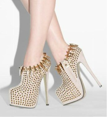 Alejandra Beyaz crystal Bootie Shoes
