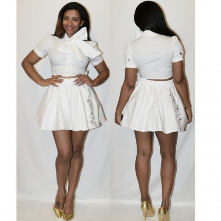 Runway Doll white skirt