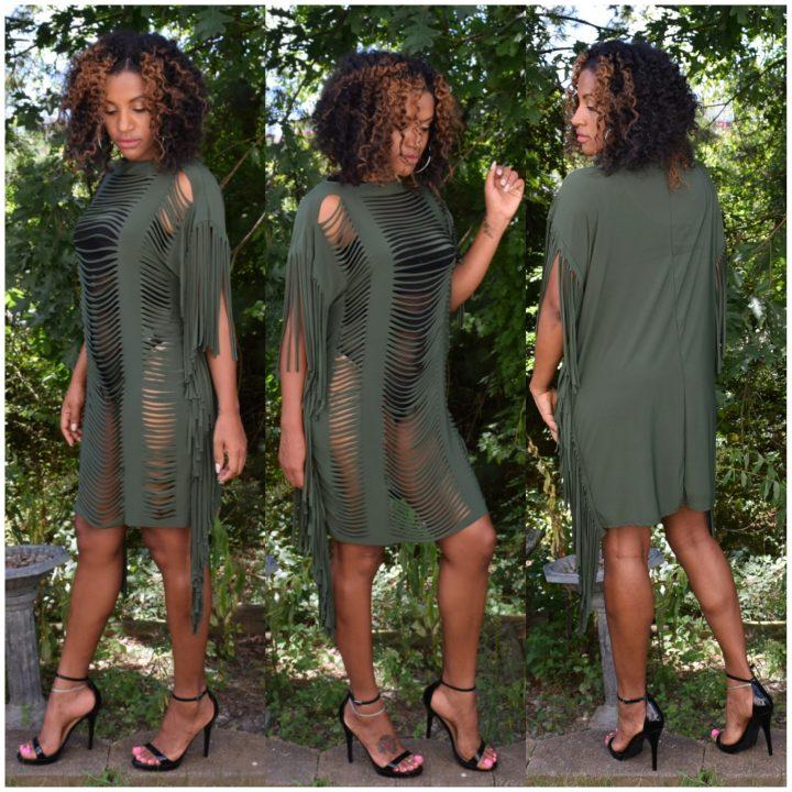 Runway Fringe Dress