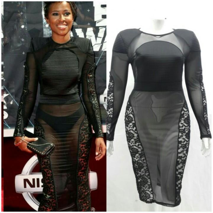 PLUS size sheer plus size dress