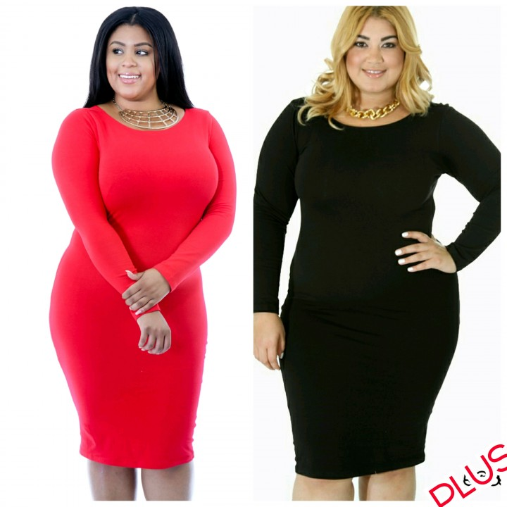 plus size red midi dress