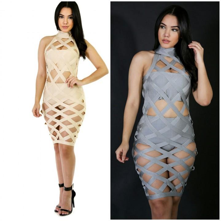 Bandage cage dress