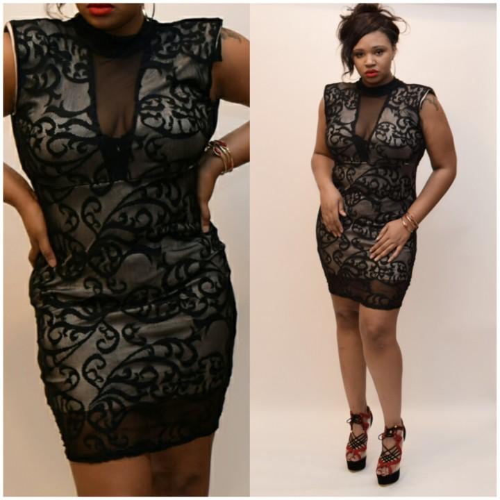 Pretty Gorgeous Plus Lace Dress