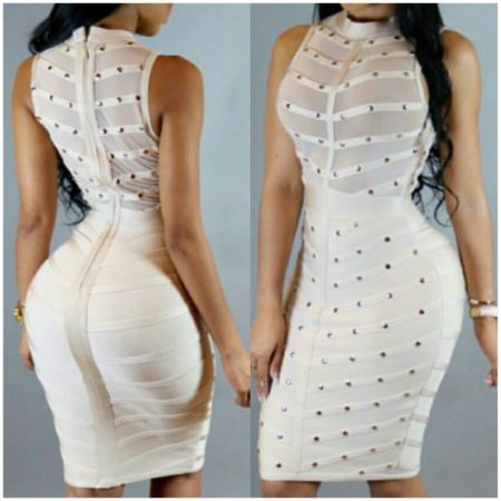 STUD BANDAGE DRESS