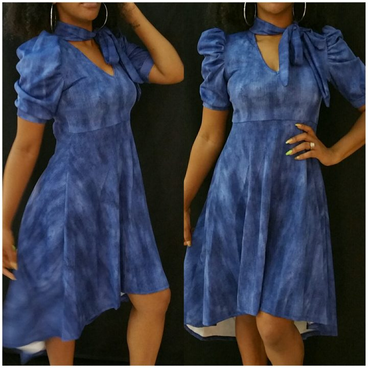HIGH LOW JEANS DRESS