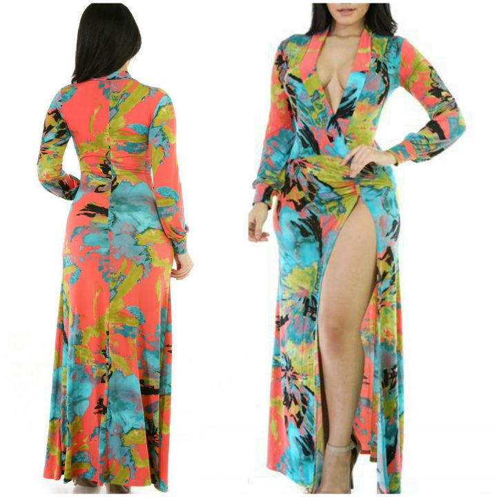 MULTI-COLOR LONG SUMMER DRESS