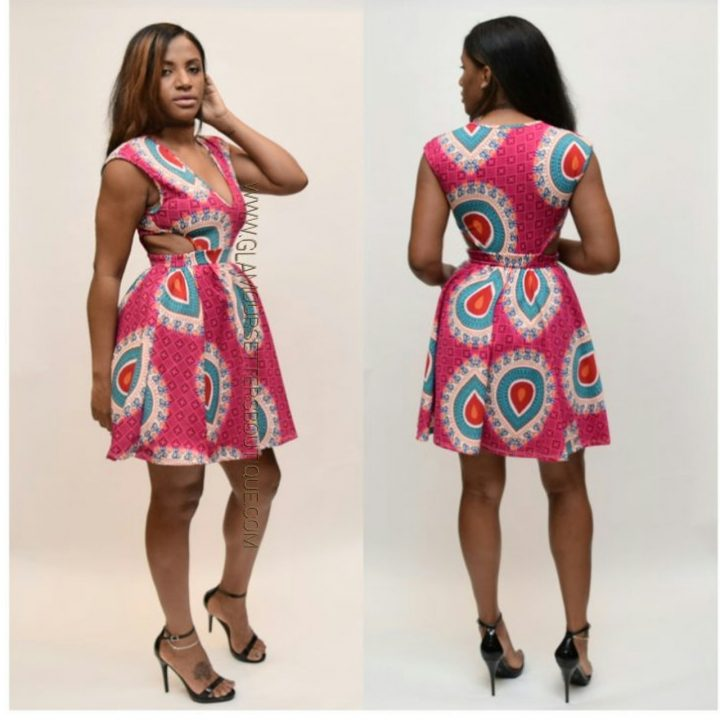 AFRICAN PRINTED DRESS