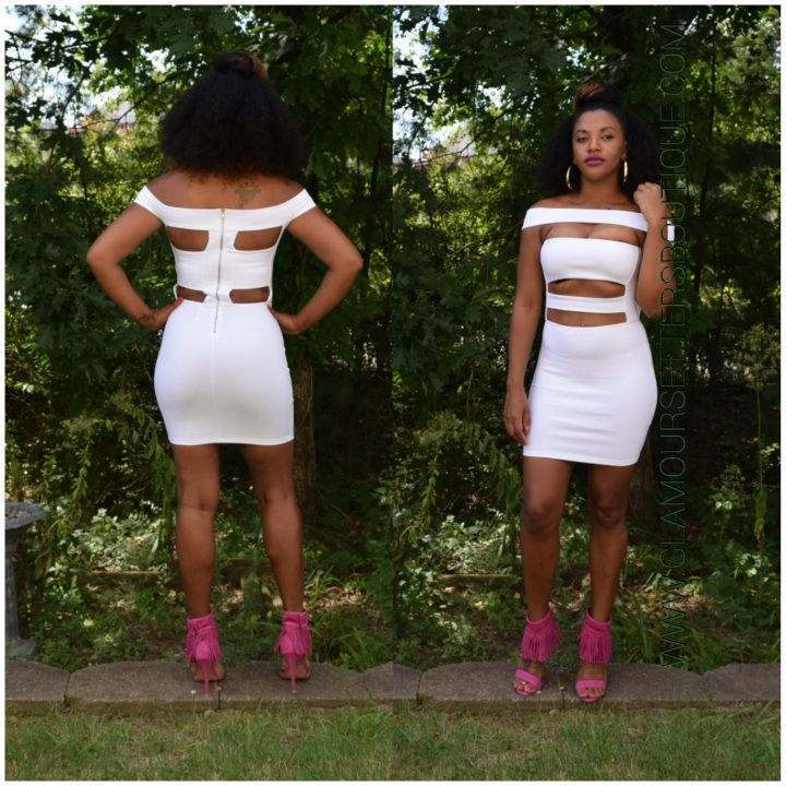 BODYCON OFF SHOULDER DRESS