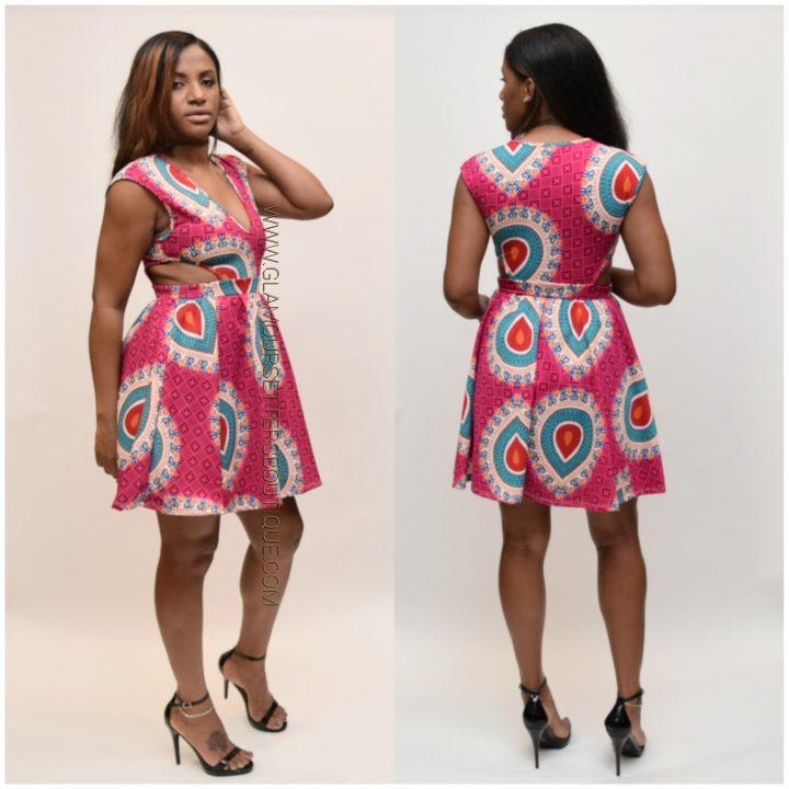 african printed dress