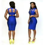 BUTTON ACCENT BANDAGE DRESS