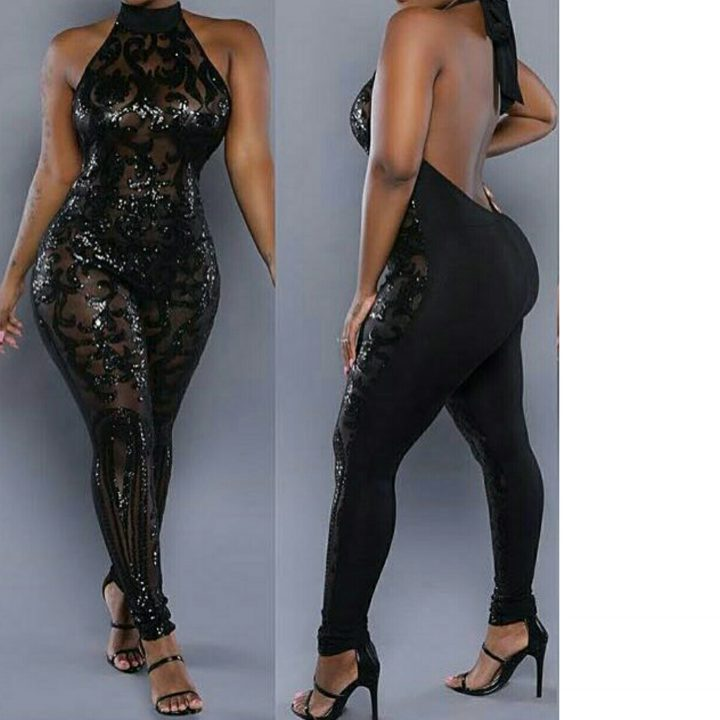SEXY SHEER SIDE SEQUIN JUMPSUIT255