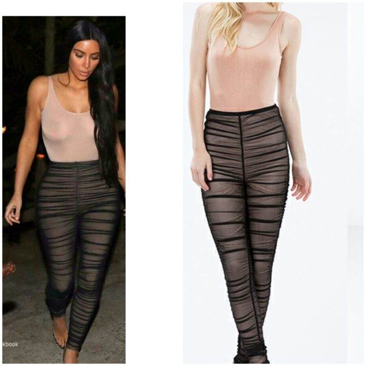 KIM K BODYSUIT SHEER PANTS SET