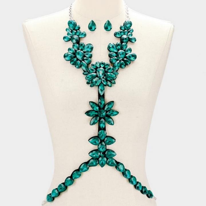 Metal hinge Floral Necklace