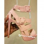 STRAPPY DUAL BUCKLE HIGH HEELS BLUSH