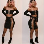 LACE TOP BANDAGE SKIRT SET