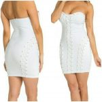PARTY NIGHT LACE TUBE DRESS WHITE