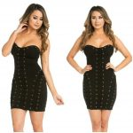 PARTY NIGHT LACE TUBE DRESS BLACK