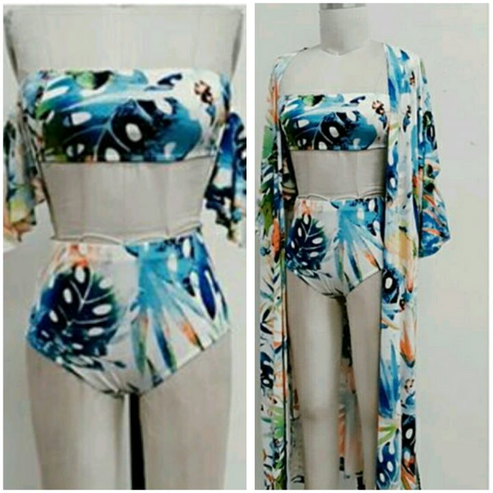 HIGH WAIST FLORAL TWO PIECE SWIMWEAR