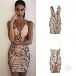 QUALITY BODYCON SEQUIN BANDAGE DRESS