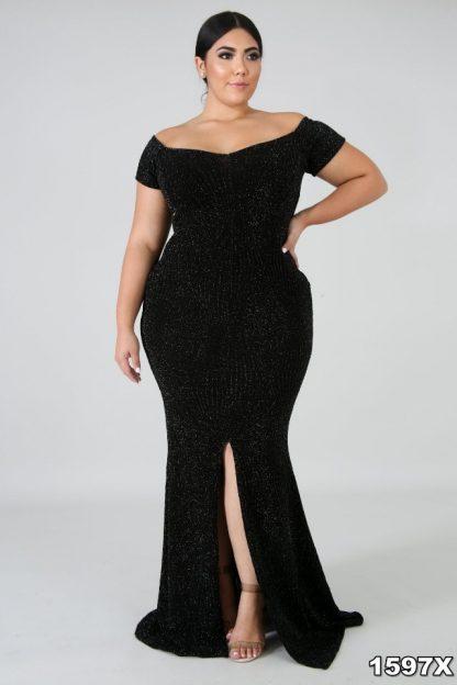Hernandez Plus Size Bodycon Split Leg Mermaid Dress